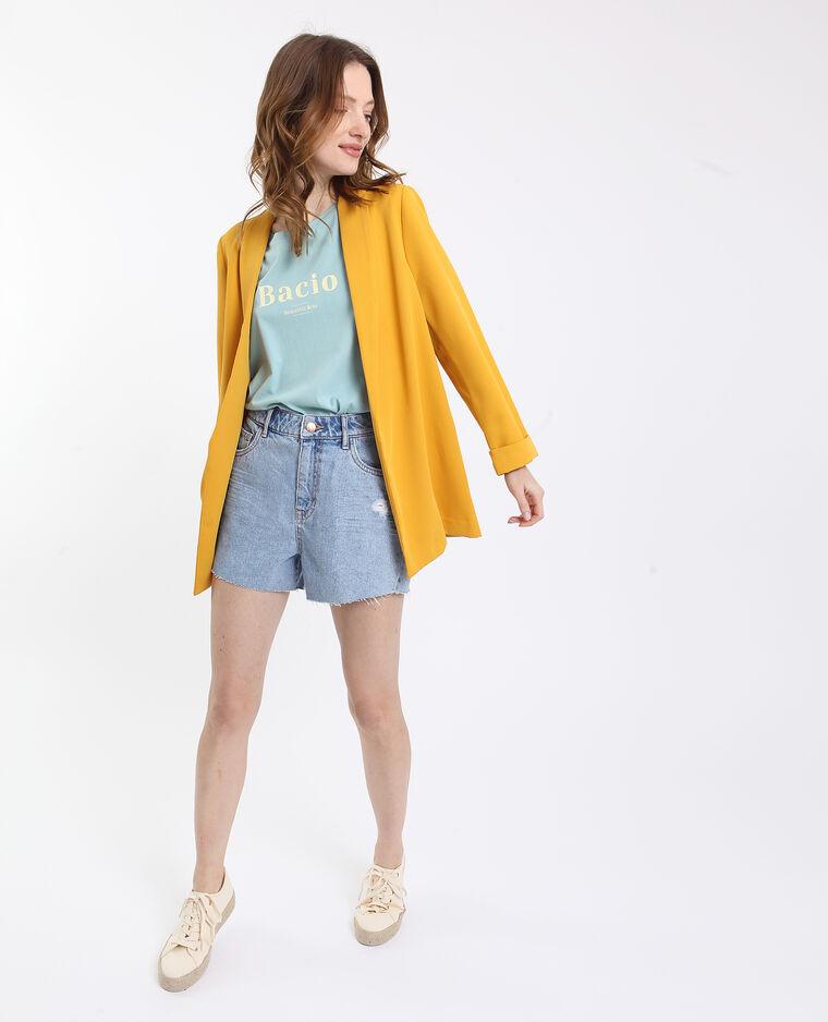 Giacca blazer morbida giallo