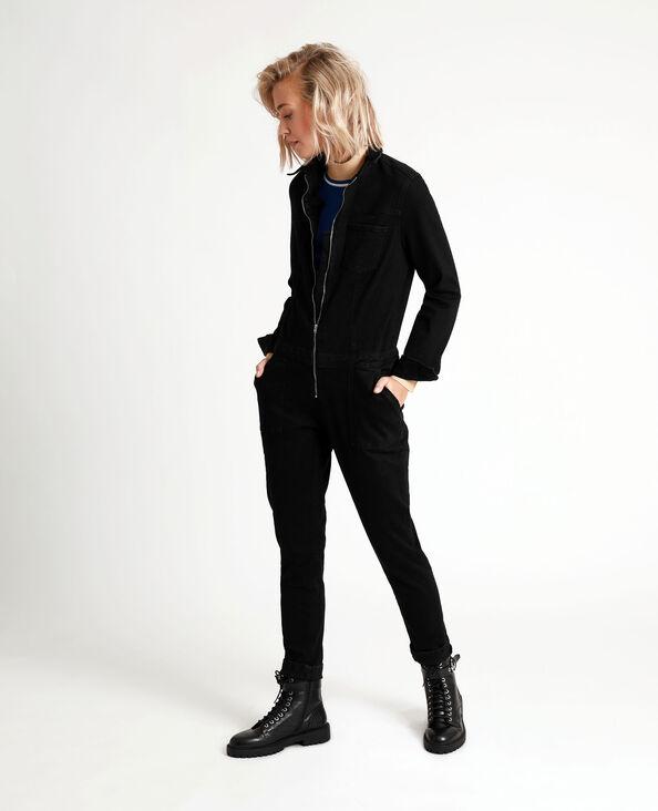 Abito pantalone in jeans nero