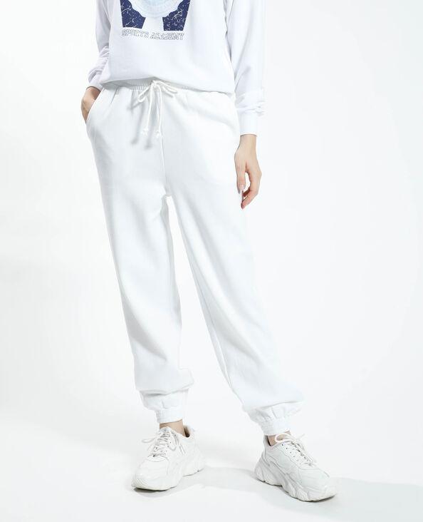 Pantalone da jogging felpato bianco - Pimkie