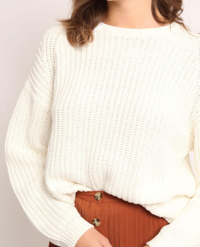 Pull in maglia spessa bianco