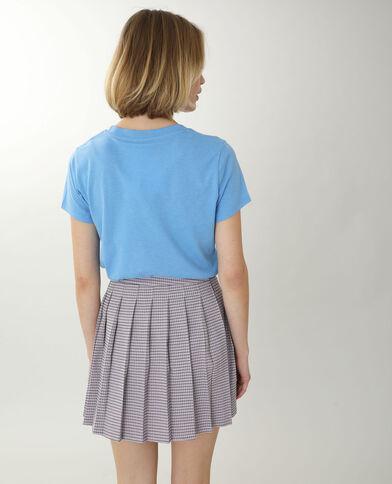 T-shirt con scritta blu