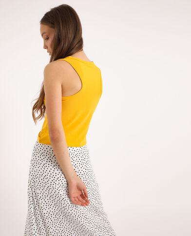 Canotta corta giallo