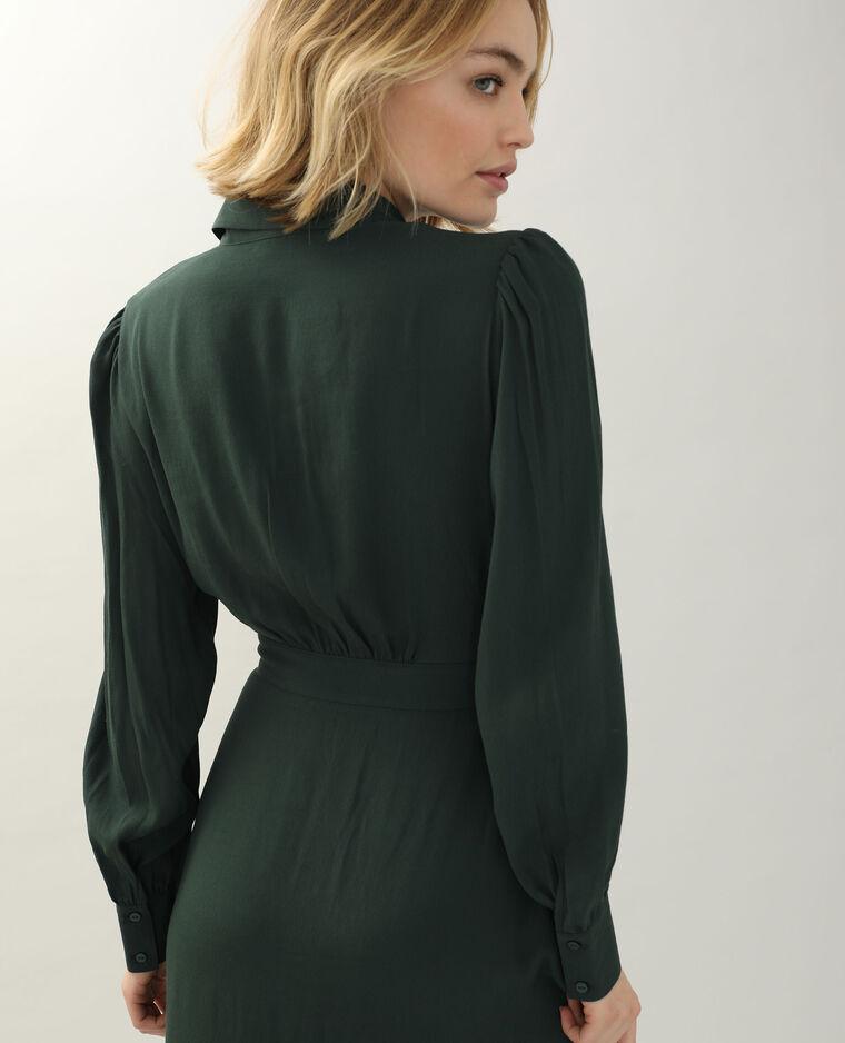 Abito camicia verde
