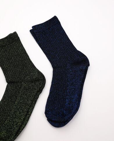 Lotto di 2 paia di calzini con paillettes blu