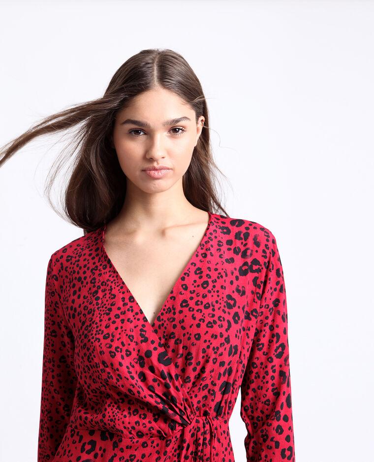 Abito leopardato rosso