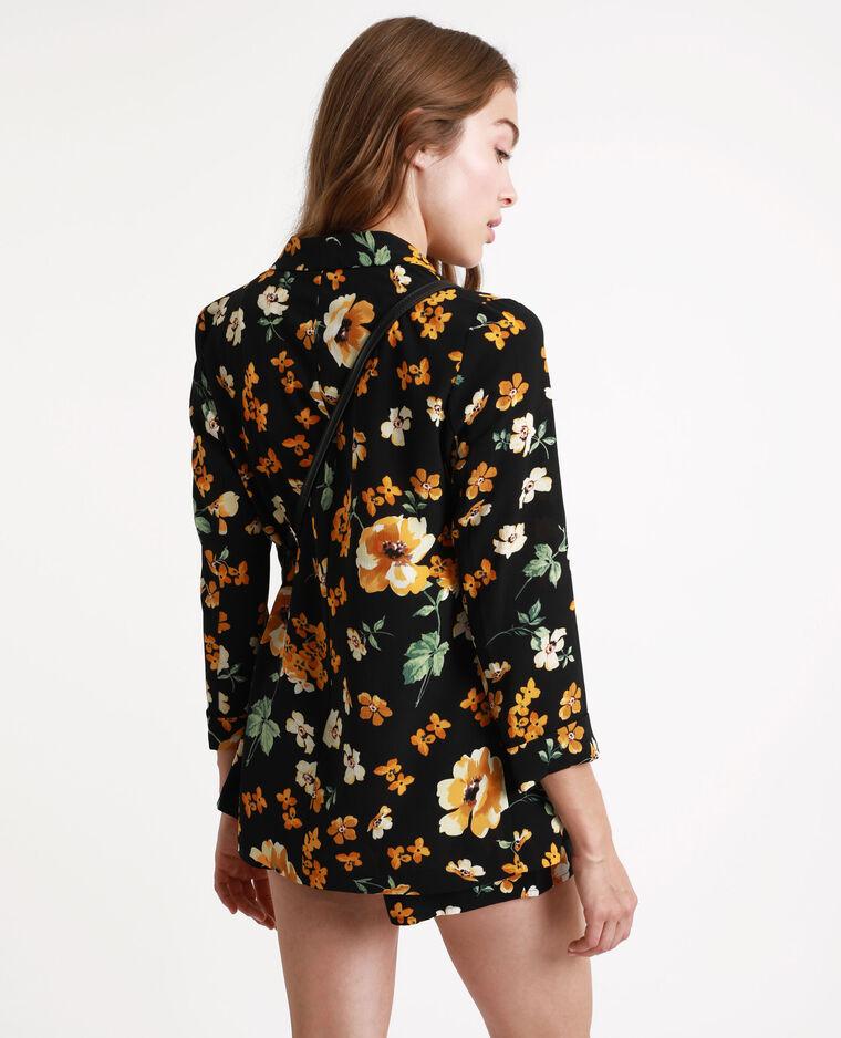 Giacca a fiori nero