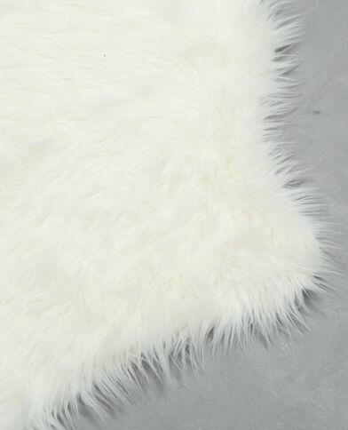 Tappeto pelliccia ecologica écru