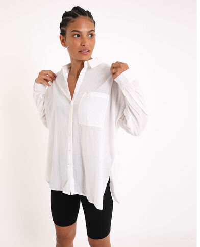 Camicia oversize. bianco