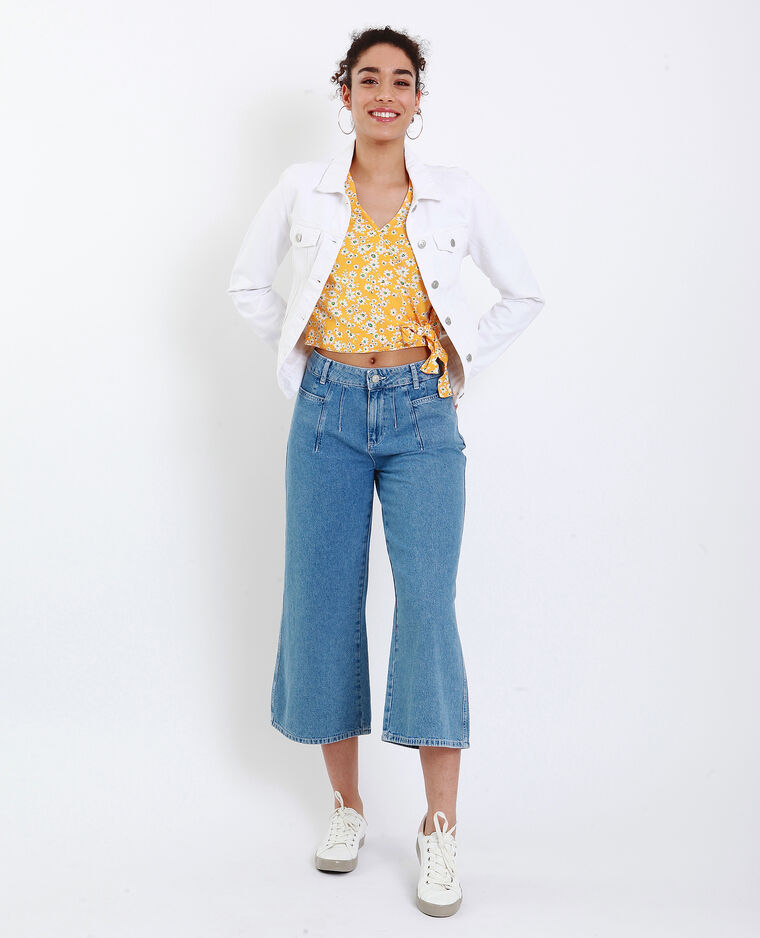 Giacca in jeans écru
