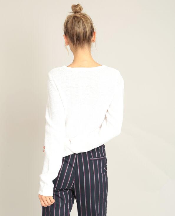 Pull maglia fantasia bianco