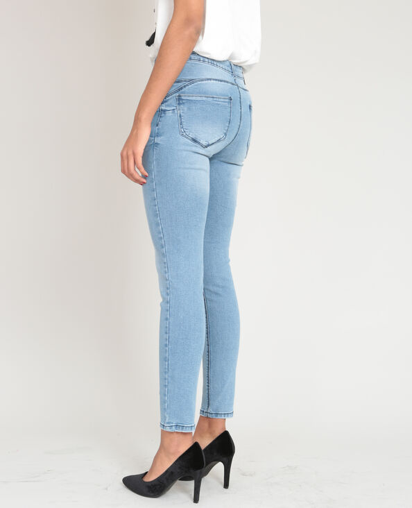 Jeans push up blu