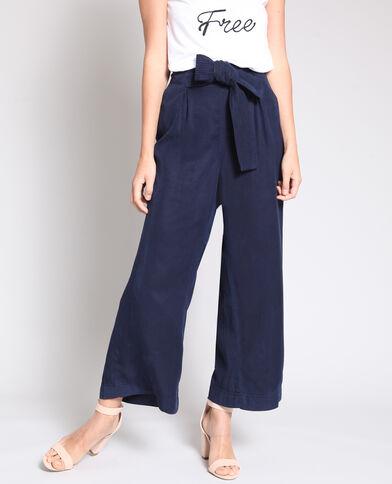 Pantalone largo blu