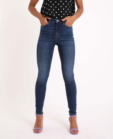 Jeans skinny high waist blu grezzo