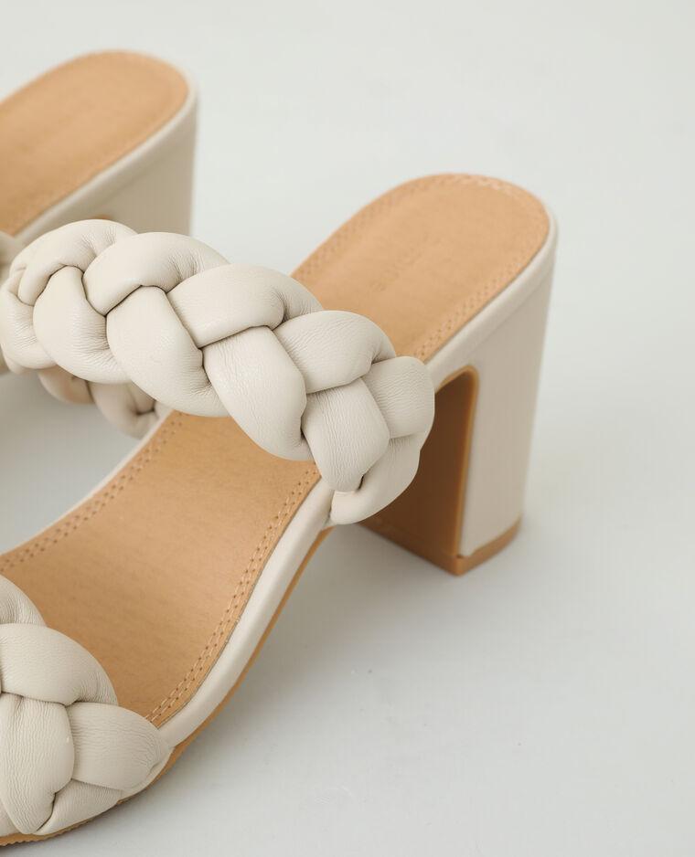 Sabot con tacco intrecciati beige - Pimkie