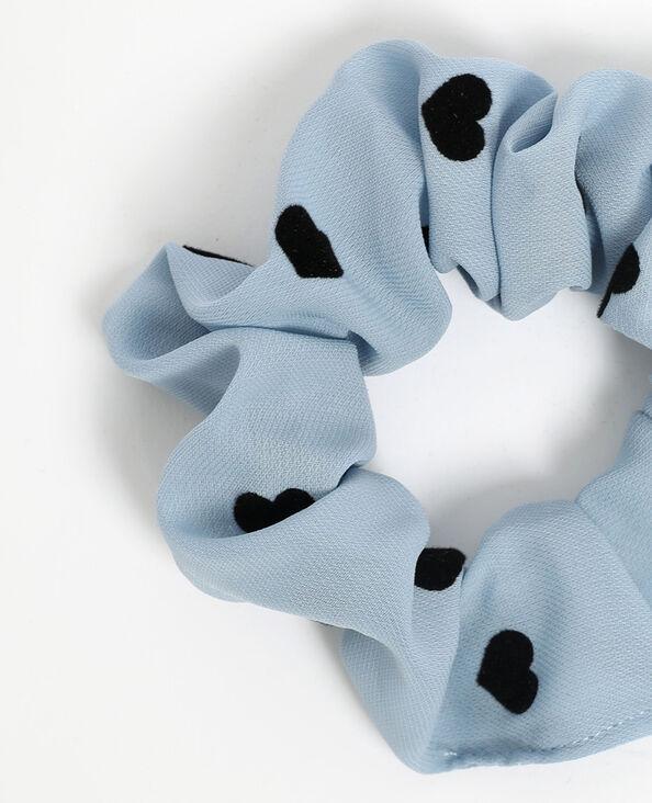 Elastico per capelli con cuori blu cielo