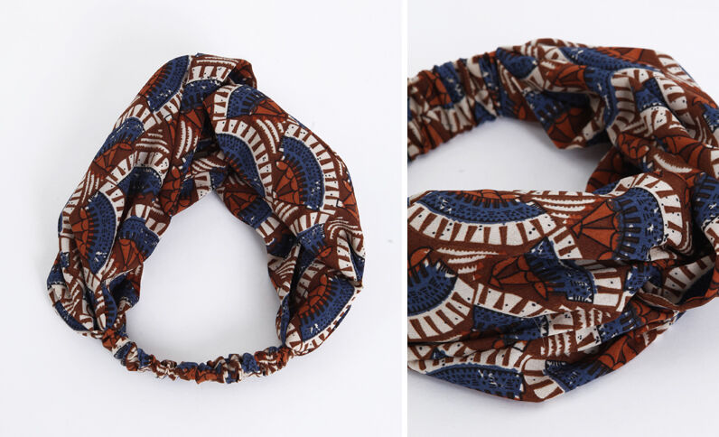 Headband satinata marrone