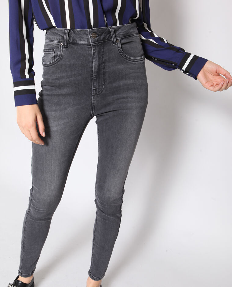 Jeans skinny a vita alta nero