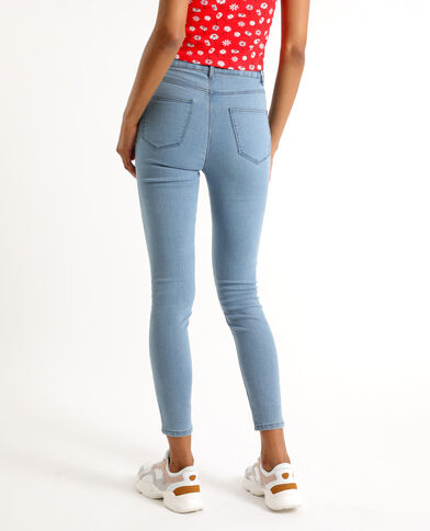 Jeggings mid waist blu denim