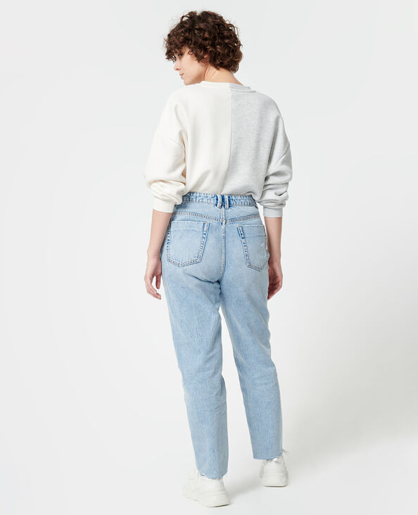 Jeans mom effetto used blu chiaro - Pimkie