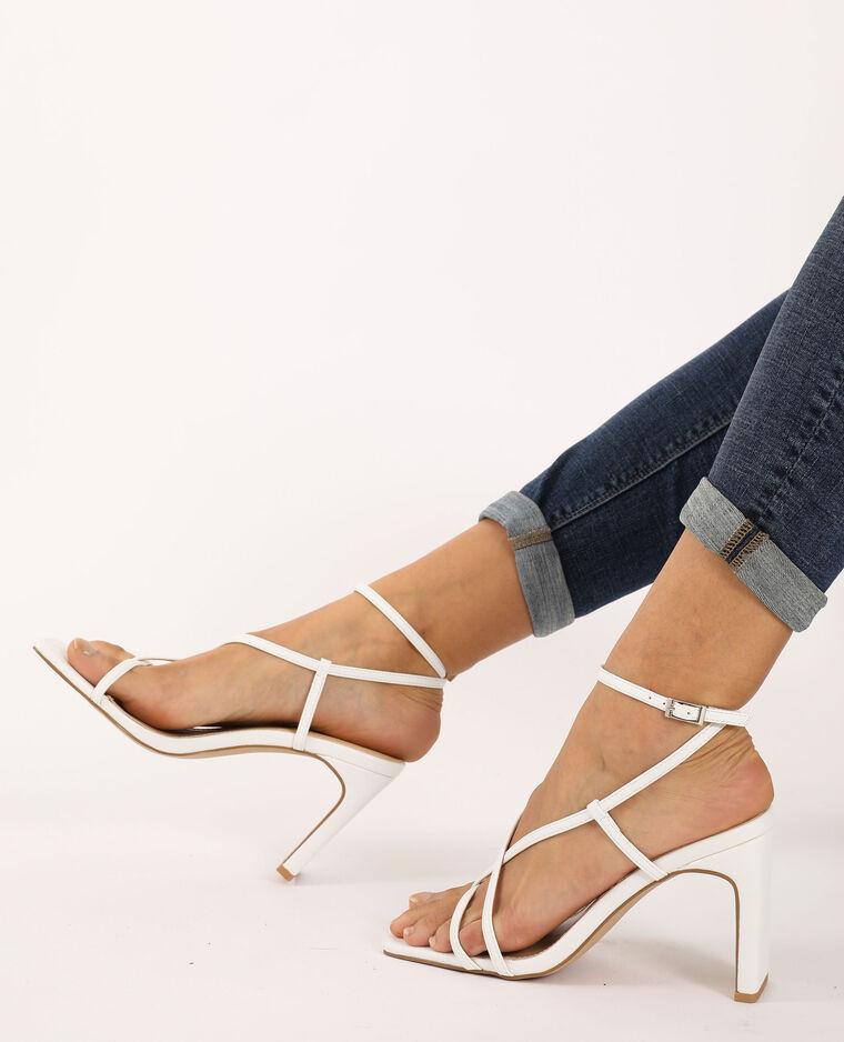 Sandali con tacco écru