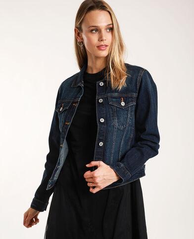 Giacca in jeans scuro blu grezzo - Pimkie