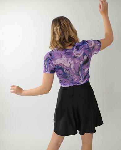 T-shirt trasparente viola - Pimkie