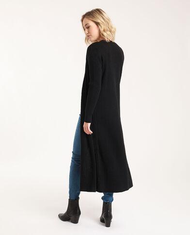 Cardigan lungo nero