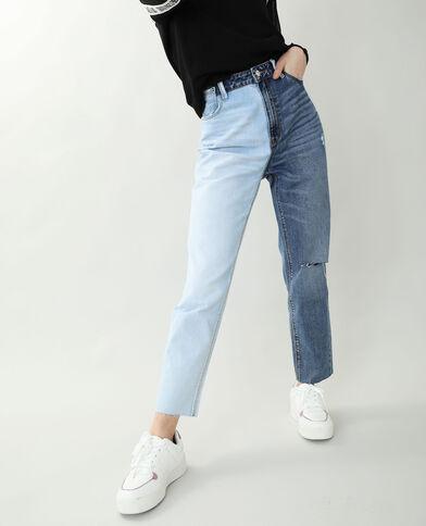 Jeans mom straight blu denim - Pimkie