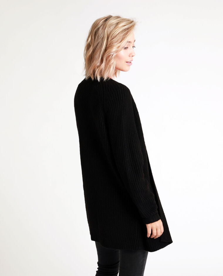 Cardigan di media lunghezza nero - Pimkie