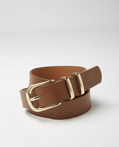 Cintura in finta pelle caramello - Pimkie