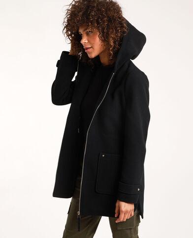 Cappotto con cappuccio nero
