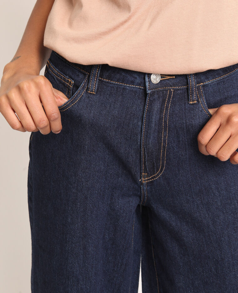 Jeans con gambe larghe blu scuro