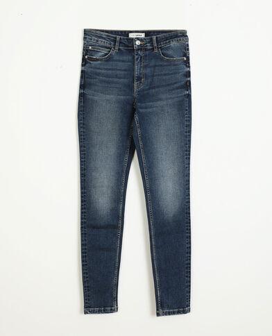 Jeans skinny push up mid waist blu grezzo
