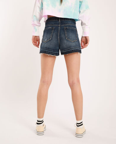 Short di jeans raw cut blu grezzo