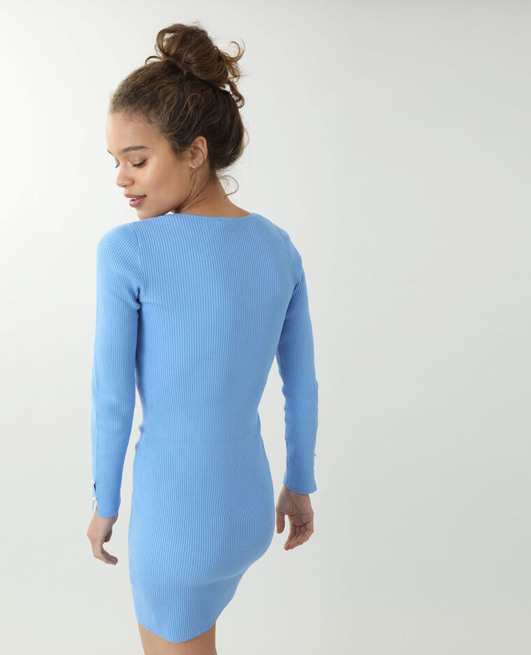 Abito pull sottile blu
