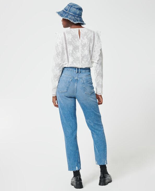Jeans mom effetto used blu denim - Pimkie