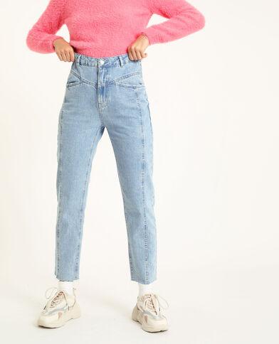 Jeans dritto a vita alta blu chiaro