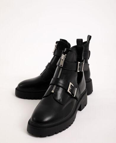 Boots rock con fibbie nero