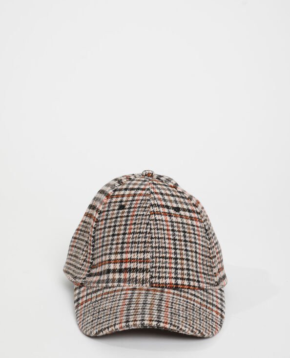 Cappellino pied-de-poule beige - Pimkie