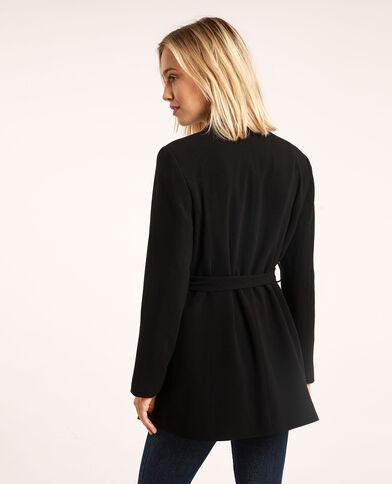 Giacca blazer con cintura nero