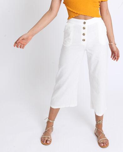 Pantalone in lino bianco