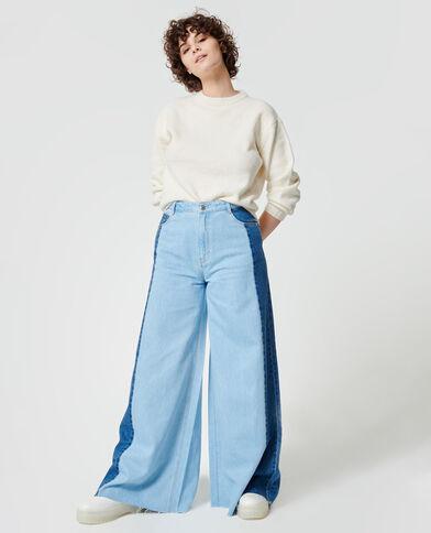 Jeans baggy bicolore blu chiaro - Pimkie