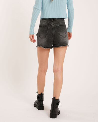 Short di jeans high waist nero - Pimkie