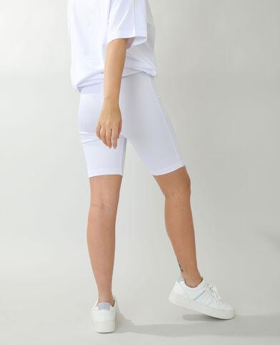 Pantaloncini in stile ciclista bianco sporco