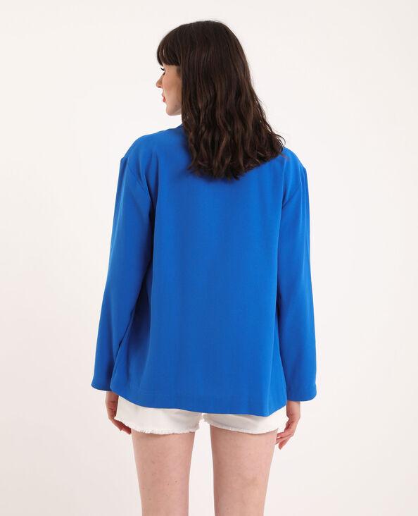 Blazer ampio blu