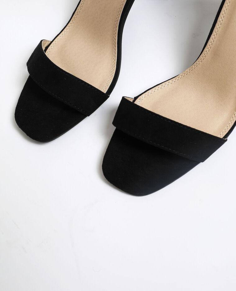 Sandali con tacchi in microfibra nero