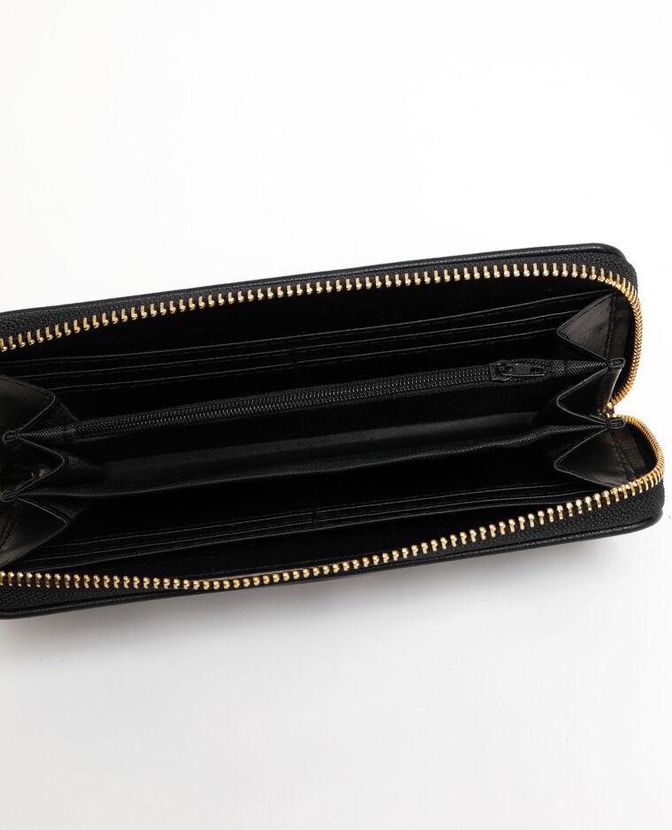 Portafoglio in similpelle nero