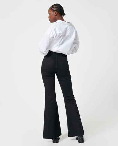 Jeans flare high waist nero - Pimkie