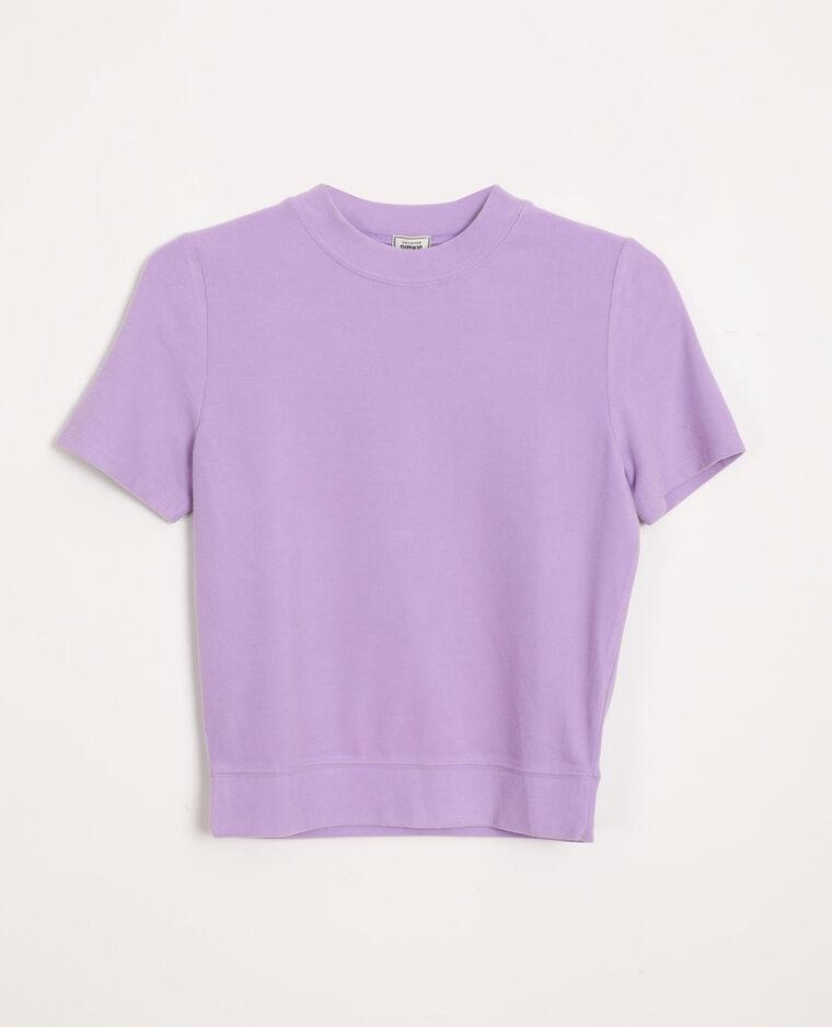 T-shirt morbida parme
