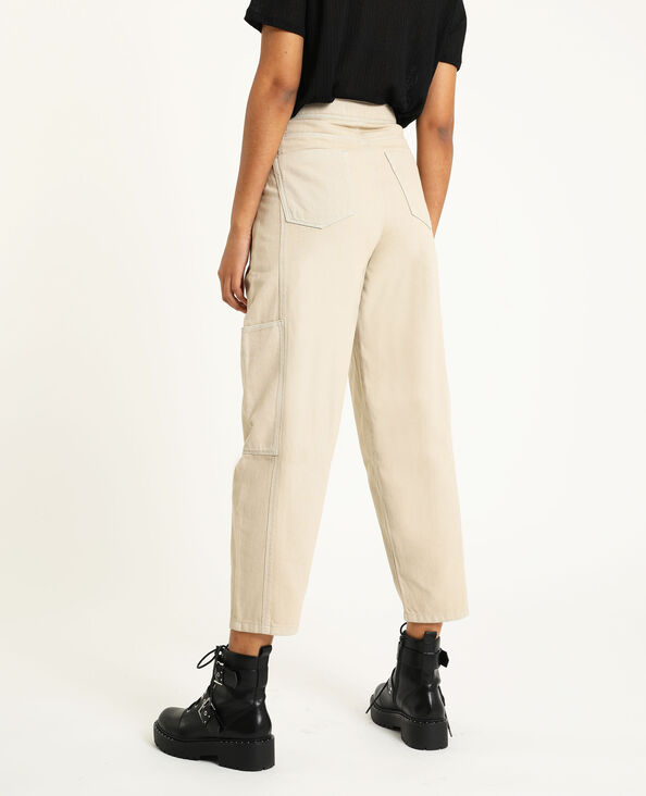 Pantalone slouchy écru - Pimkie